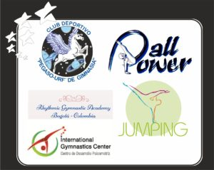 Collage logos clubes de gimnasia